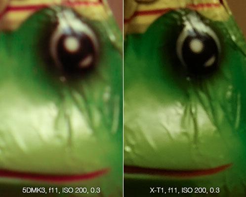 Bildvergleich bei Blende 16