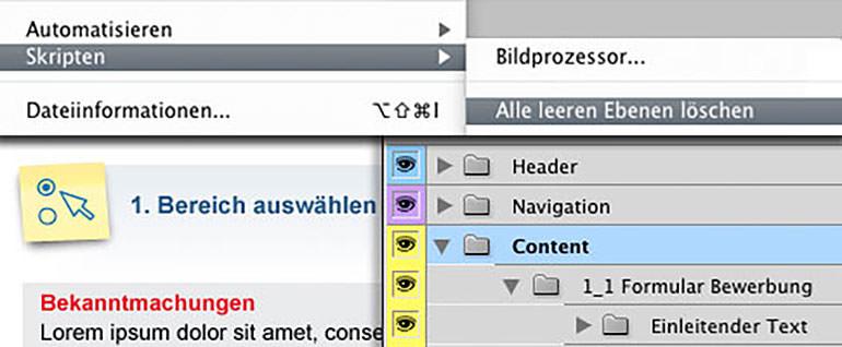 Skripten-Dialog aus dem Datei/Photoshop-Menü