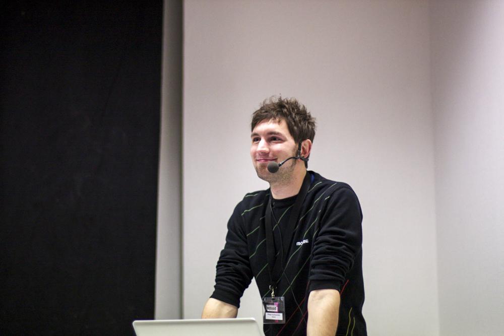 Philip Fuchslocher am Rednerpult