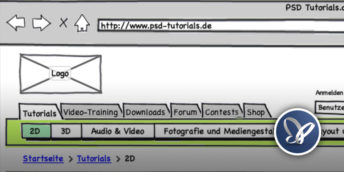 Teaserbild: Auszug des Mockups für PSD-Tutorials.de.