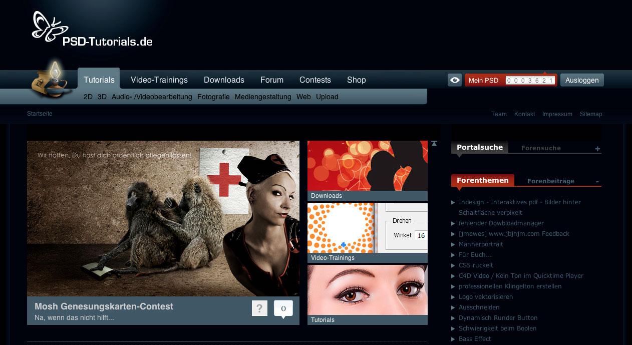 Ausschnitt der Darkart-Farbvariante von PSD-Tutorials.de.
