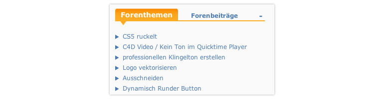 """Farbcodierung auf PSD-Tutorials.de. Orange steht für """"Weitere Inhalte/Funktionen."""