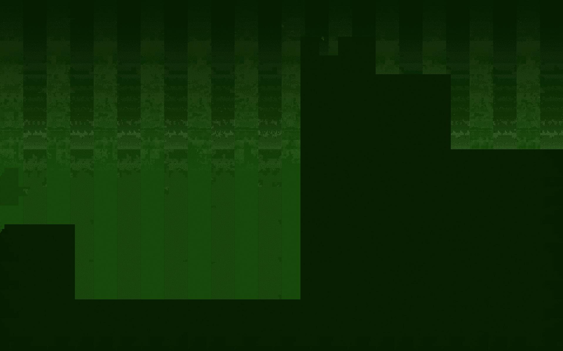 Darstellungsfehler: Grüne, artefakthafte Blockbildung.