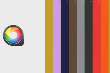 Teaserbild ColorSnapper. Farbstreifen und Logo