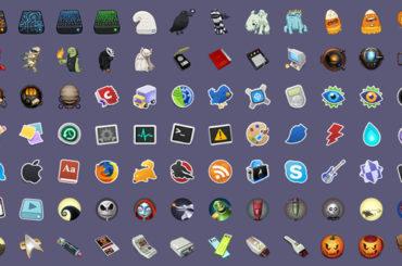 Sammlung vieler verschiedener Icons