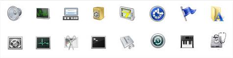 Gegenüberstellung der Windows und der OS X Systemicons.