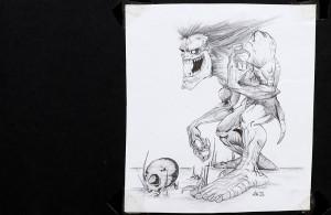 Bleistiftzeichnung. Fantasyfigur.