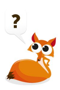 Illustration Fuchs mit Fragezeichen