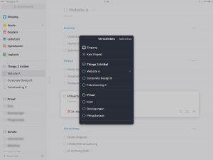 Screenshot Things 3 iPad: Verschieben